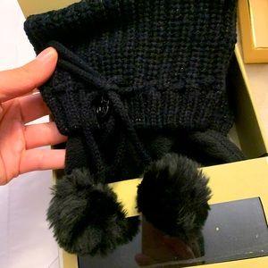 Michael kors pompom cuffed socks